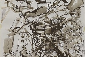14-Nent-Head-lead-mine-59cm-x-42cm-Ink-on-paper