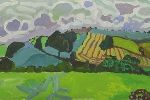 15-Looking-over-Cairn-Beck-1-42cm-x-118cm-Acrylic-on-canvas