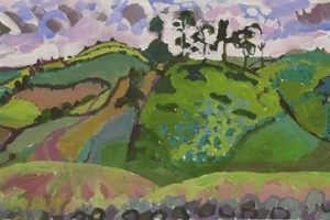 16-Looking-over-Cairn-Beck-2-42cm-x-118cm-Acrylic-on-paper