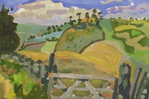 17-Looking-over-Cairn-Beck-3-42cm-x-59cm-Acrylic-on-paper