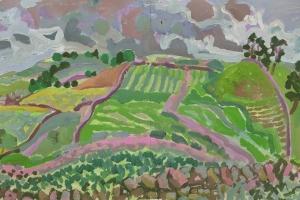 20-Pink-farm-track-50cm-x-81cm-Acrylic-on-paper