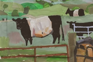 43-Belted-Galloway-64cm-x-89cm-Acrylic-on-paper-collage
