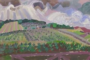 61-Green-barns-42cm-x-81cm-Acrylic-on-paper