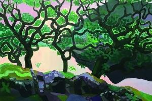 Through-the-trees-onto-Lake-Ullswater-July-2020