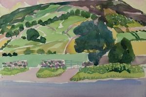 Near Castle Carrock, Cumbria 2018, Watercolour